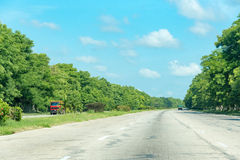 Cuban National Highway to Havana City Royalty Free Stock Photography