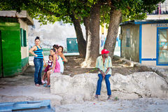 Cuban native people on streets of Havana Stock Photography