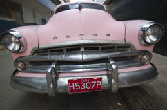 Old American car in Hvna, Cuba Royalty Free Stock Photography