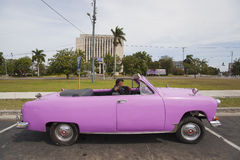 Old American cars in Hvana, Cuba  Stock Photography