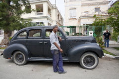 Old Amrican car in Havan, Cuba  Stock Image