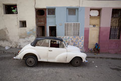 Old cars in Cuba  Royalty Free Stock Photography