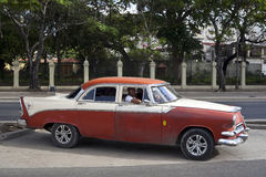 Cuban old cars Stock Photo