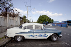 Old American car in Havana, Cuba  Royalty Free Stock Photography