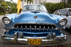 Old American car in Havana, Cuba  Royalty Free Stock Image