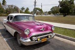 Old American car in Havana, Cuba  Royalty Free Stock Photo