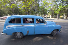 Cuban old cars Royalty Free Stock Images