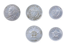 Cuban old coins Royalty Free Stock Image