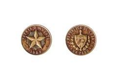 Cuban peso coin Royalty Free Stock Photo