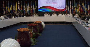 Cuban President Raul Castro at the Opening of the 22nd Meeting of the Association of Caribbean States Ministerial Council Royalty Free Stock Photography