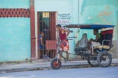 A Cuban rickshaw driver Stock Image