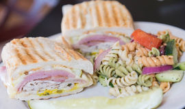 Cuban Sandwich with Pasta Salad Stock Images