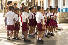 Cuban school children singing Havana royalty free stock image