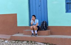 School Girl from Cuba Stock Image
