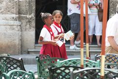 Cuban School Girls Royalty Free Stock Images