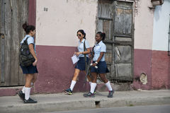 Cuban school girls Stock Photography