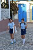 School Girl from Cuba Royalty Free Stock Photos