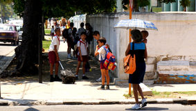 Cuban schoolchildren Stock Image