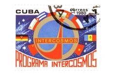 Cuban stamp closeup royalty free stock photography