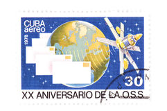 Cuban stamp on white Stock Image