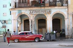 Cuban Street Scene Royalty Free Stock Images