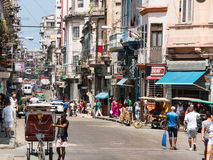 Cuban Street Scene in Havana Royalty Free Stock Images