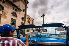 Cuban Taxi Driver In Old Havana stock photo