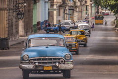 Cuban taxi in Havana Royalty Free Stock Photography