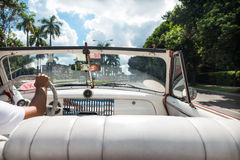 Cuban taxi ride Royalty Free Stock Images