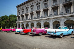 Cuban taxis Royalty Free Stock Photo
