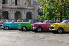 Cuban taxis Royalty Free Stock Image