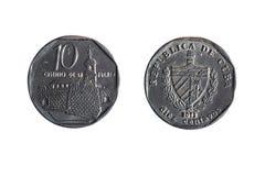 Cuban ten cents Royalty Free Stock Photography