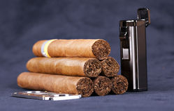 Cuban top cigar Royalty Free Stock Photos