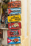 Cuban touristic car plates Royalty Free Stock Image