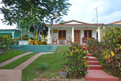 Cuban traditional guest house Royalty Free Stock Photo