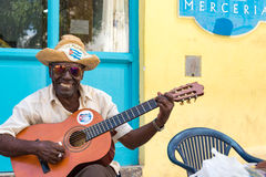 Cuban Traditional Street Musicians in Old Havana Royalty Free Stock Image
