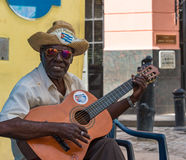 Cuban Traditional Street Musicians in Old Havana Stock Photo