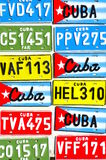 Cuban Vehicle Plates Stock Photo
