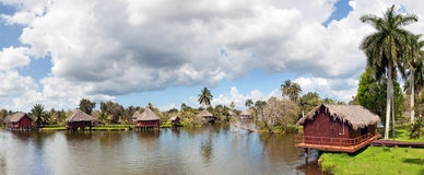 Cuban village on the river Stock Photo