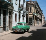 Cuban vintage car Royalty Free Stock Photos