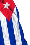 Cuban waving flag on white background Royalty Free Stock Photography