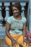 Cuban woman with cornrows hairstyle Havana royalty free stock image