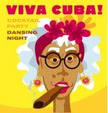 Cuban woman face. Stock Photos