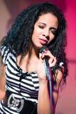 Cuban woman singer Royalty Free Stock Photography
