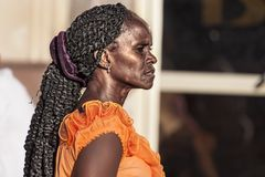 Cuban woman .. royalty free stock image