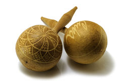 Cuban wooden maracas Royalty Free Stock Image