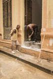Cuban workers Old Havana Royalty Free Stock Image