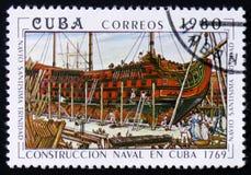 ` Cubano di Trinidad del ` delle navi a vapore della costruzione sviluppato nel 1869 Fotografia Stock Libera da Diritti