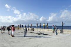 Cubans fishermens Royalty Free Stock Photos