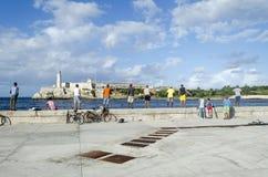 Cubans fishermens Royalty Free Stock Image